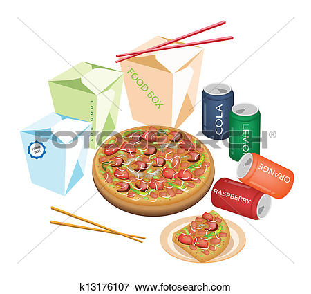 Stock Illustration of take away container kch0107.