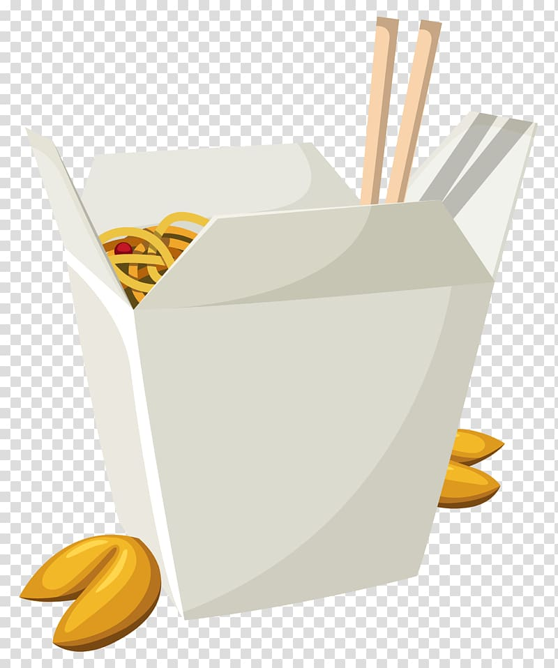 Noodle box illustration, American Chinese cuisine Fast food.