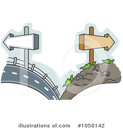 Clip Art Road Not Taken Clipart.