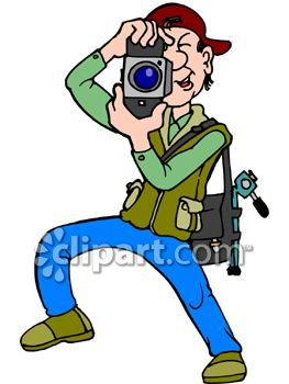 Clipart Photographer Taking Picture.
