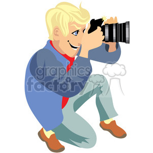photographer illustration taking photos clipart. Royalty.