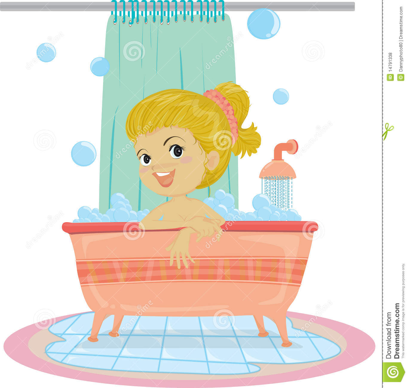 Bathroom clipart illustration, Bathroom illustration.