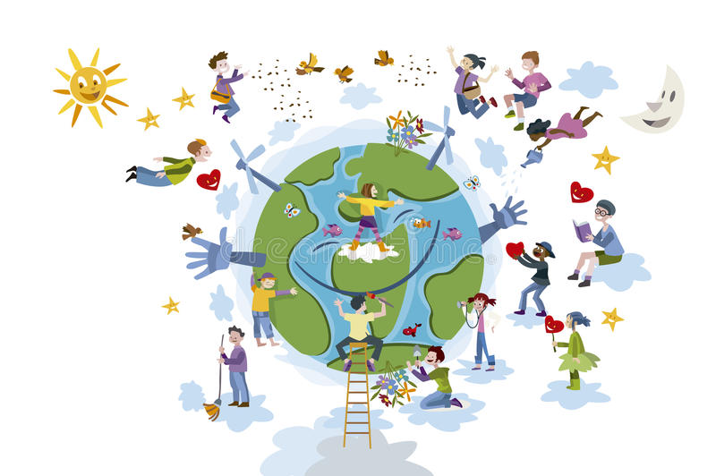 Taking Care Of The Earth Clipart.