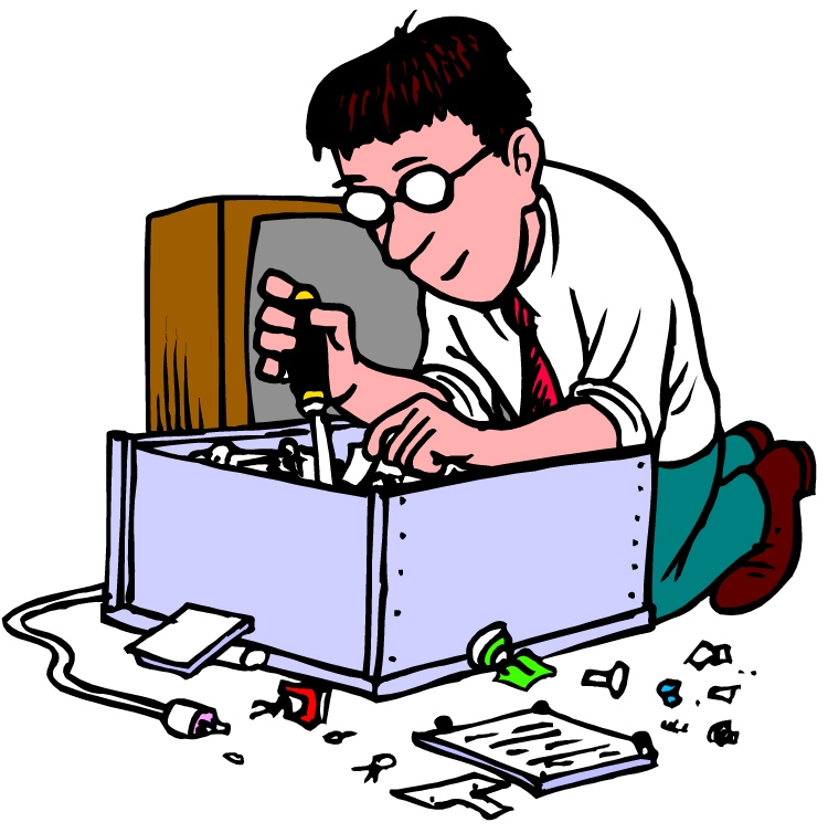 Taking Care Of Computer Clipart.