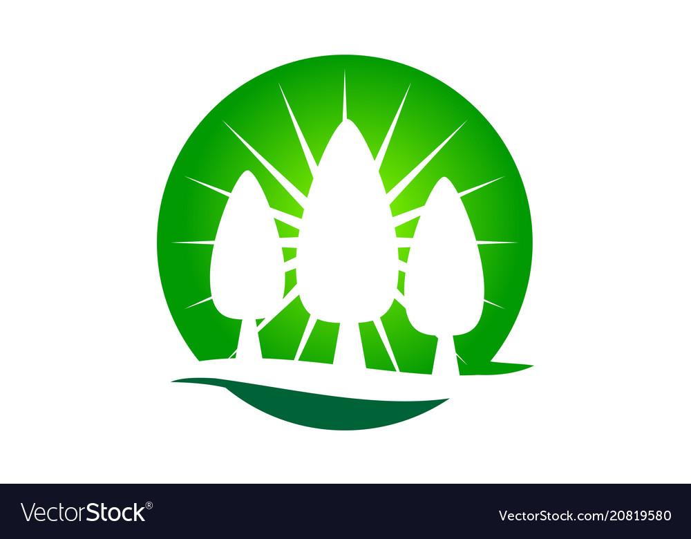 Landscaping care taking logo design template.