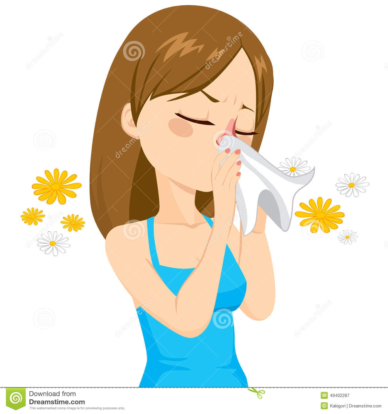 Taking Care Of Nose Clipart.