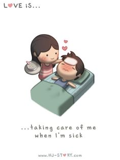 Thanks to my wife for always being there to take care of me when I.