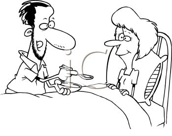Royalty Free Clipart Image: Black and White Cartoon of a Man.