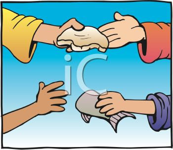 People Sharing Food Clipart.