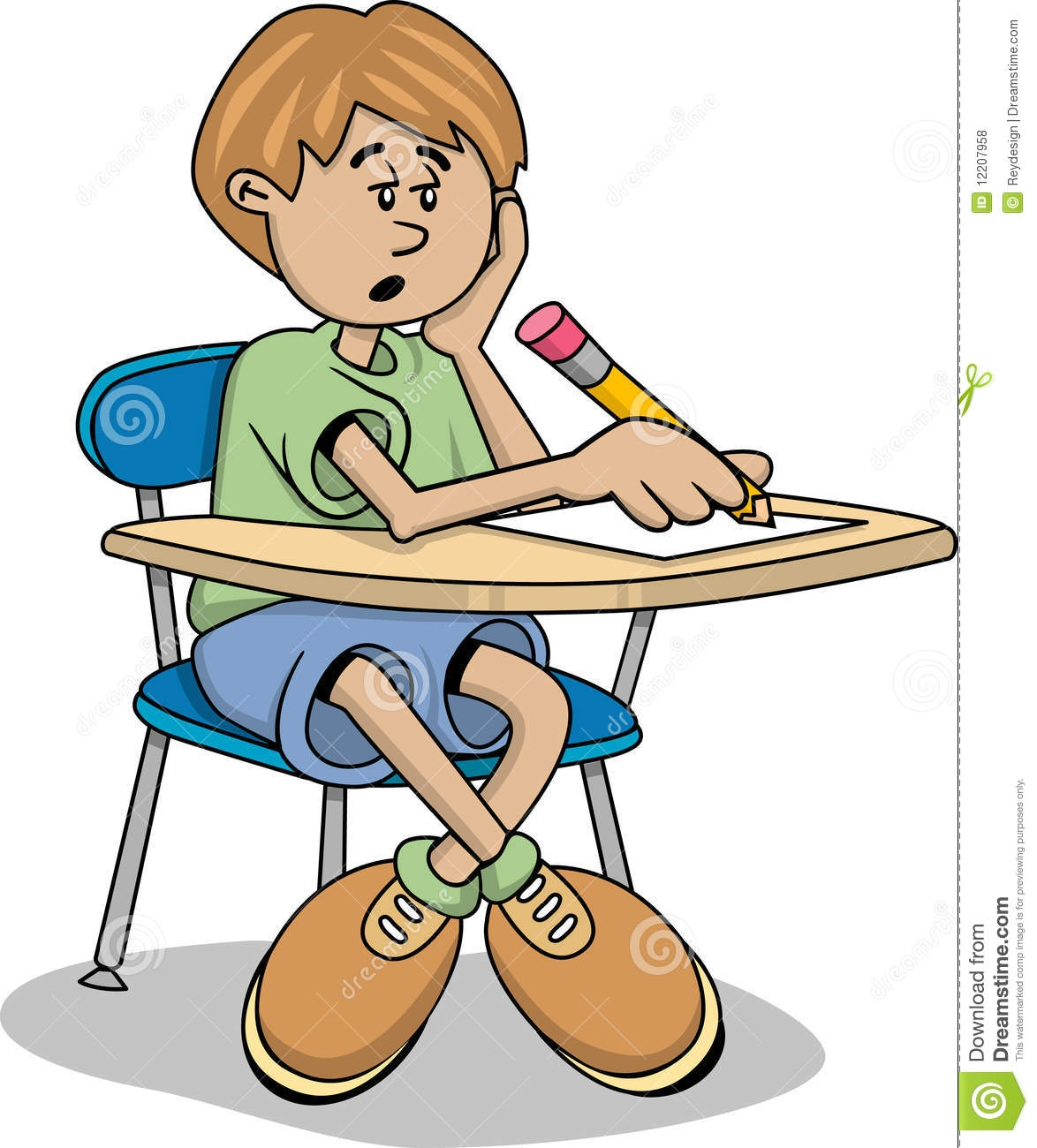 Student Taking Notes Clipart.