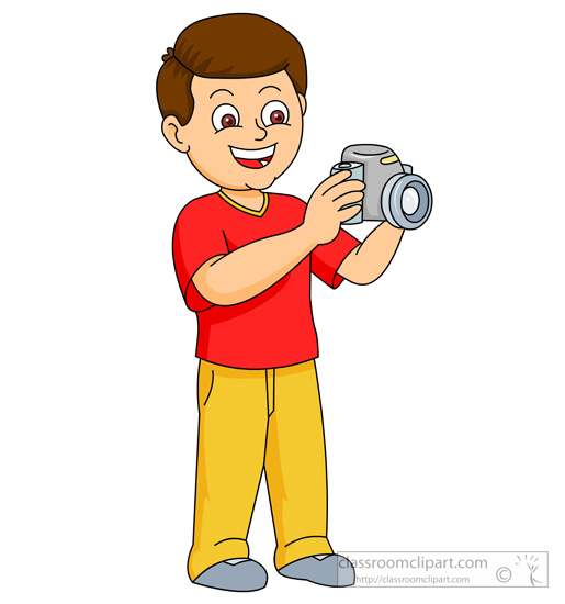 Taking pictures clip art.