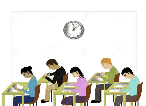 Student Taking Exam Clipart.