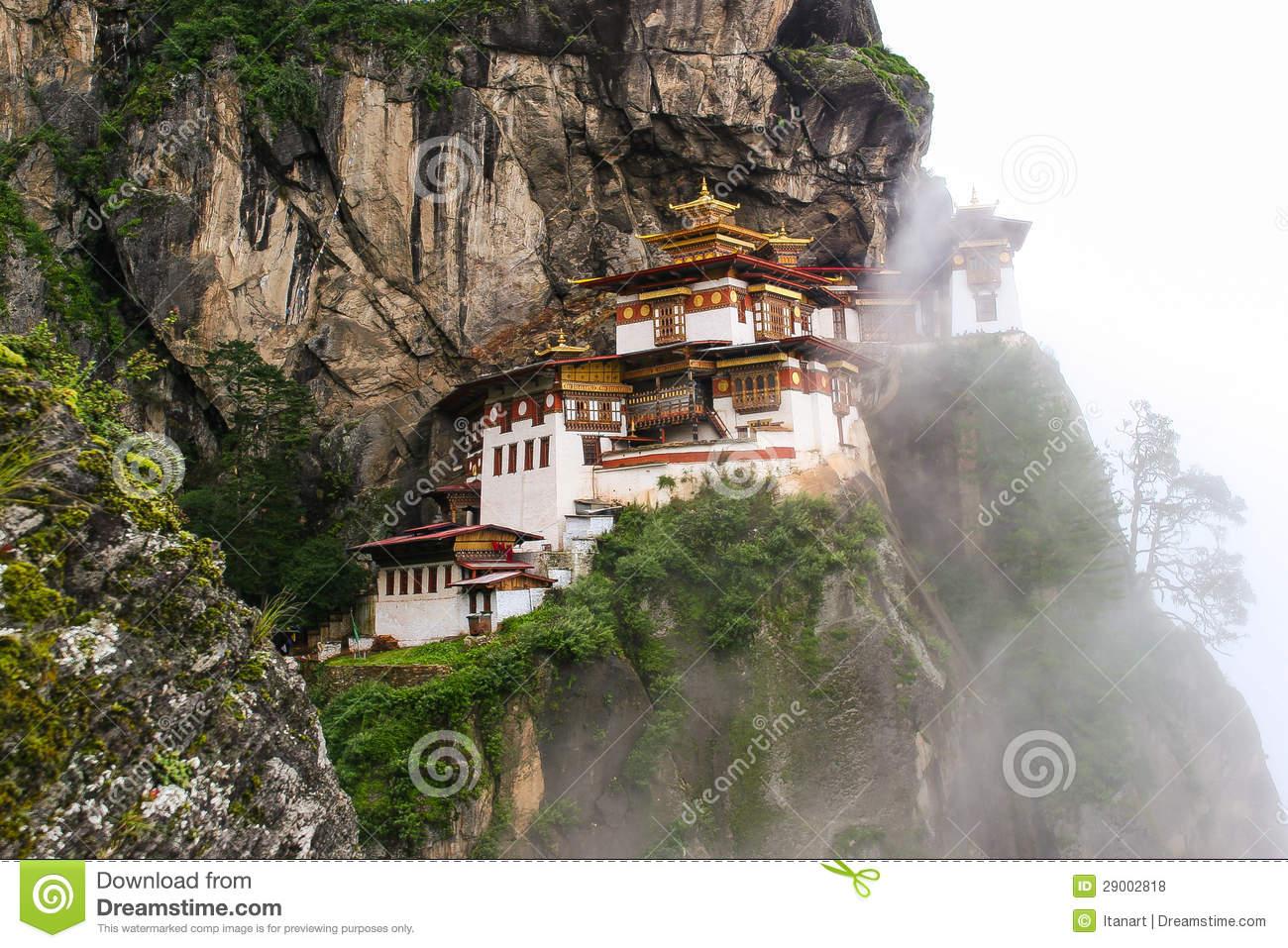 Taktsang Palphug Monastery, Bhutan Royalty Free Stock Photos.