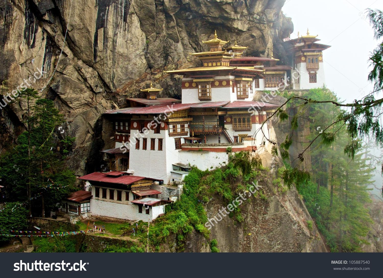 Famous Tigers Nest Monastery Taktsang Palphug Stock Photo.