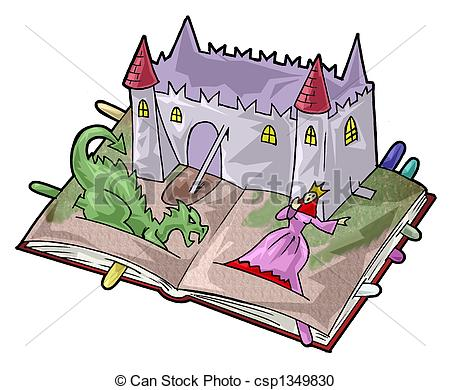 Fairy Tale Book Clipart.