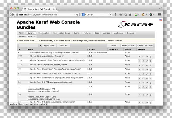 Computer Program Apache Karaf User Interface Talend System.