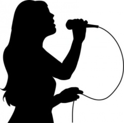 Talent show clipart black and white.