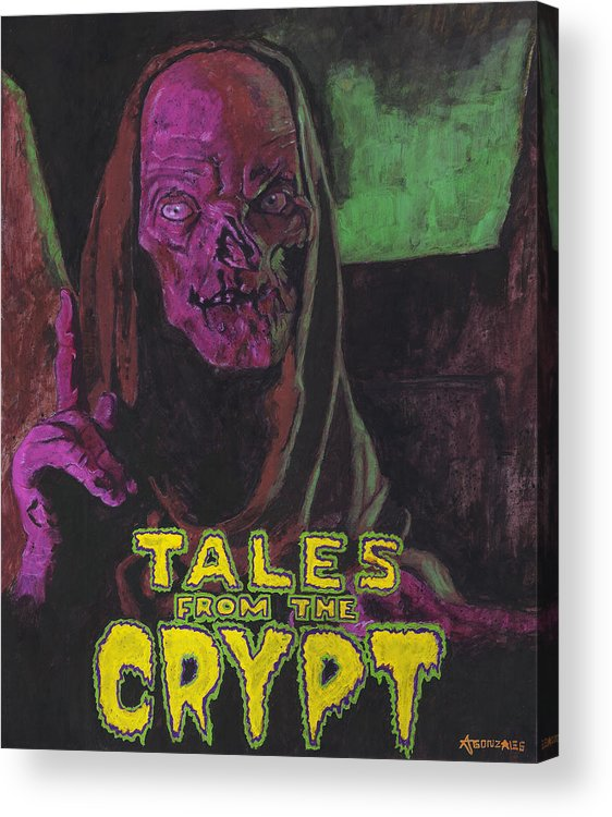 Tales From The Crypt With Text Logo Trademark Acrylic Print.