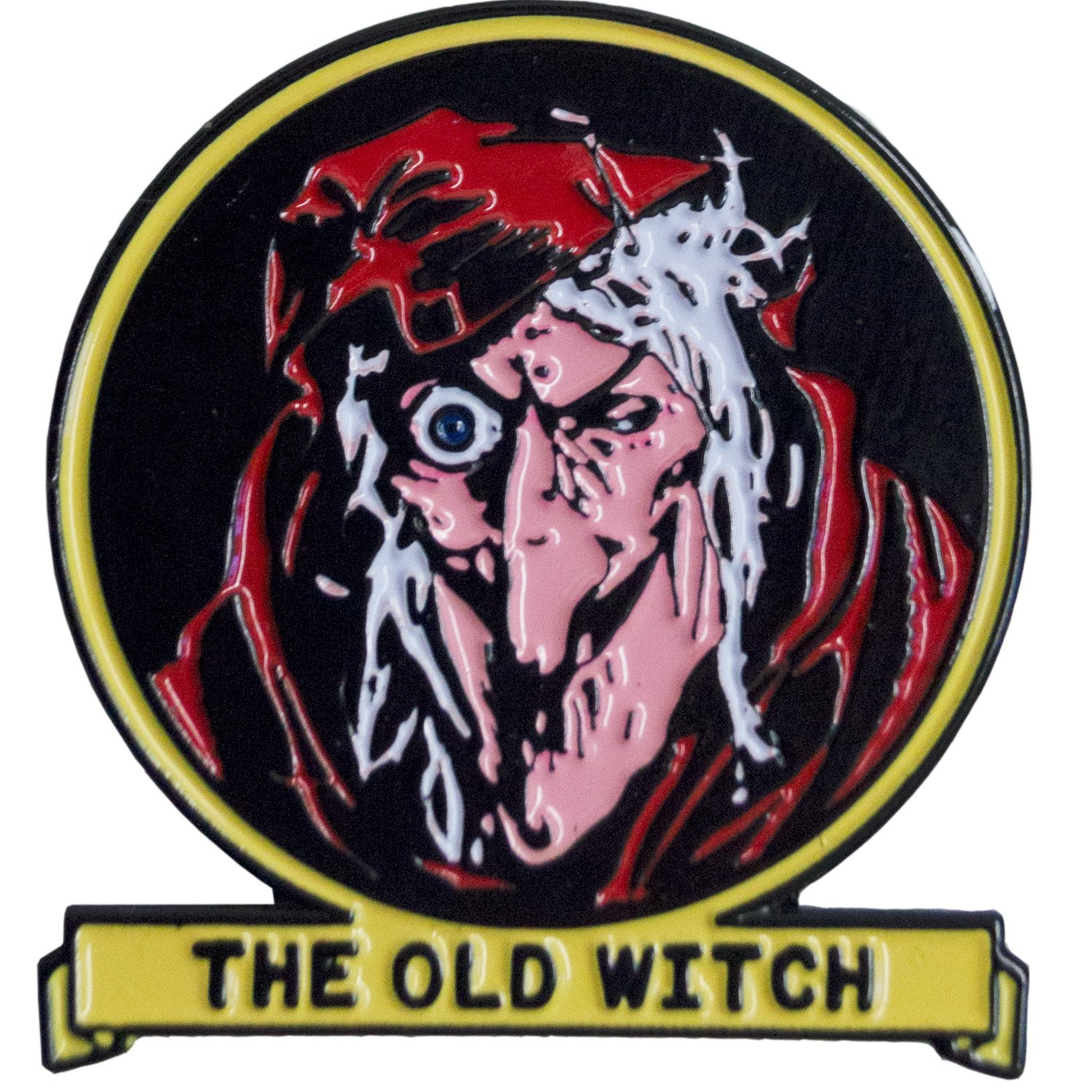 Tales From The Crypt Old Witch Enamel Pin Badge.