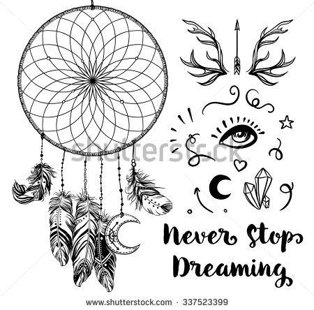 Hand Drawn Clip Art Native American Stock Vector 337523399.