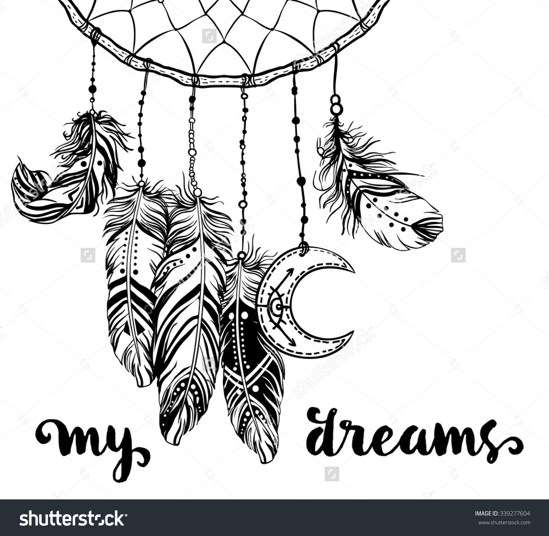 Hand Drawn Clip Art Native American Stock Vector 339277604.