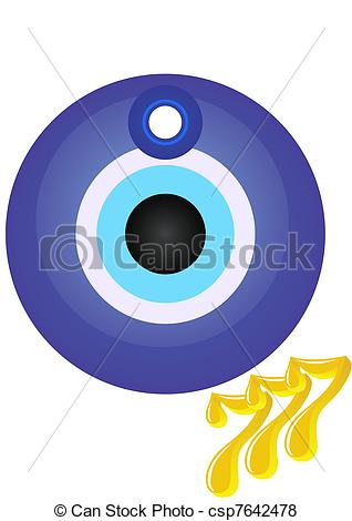 """Vector of Talisman and lucky number """"three sevens"""". The."""