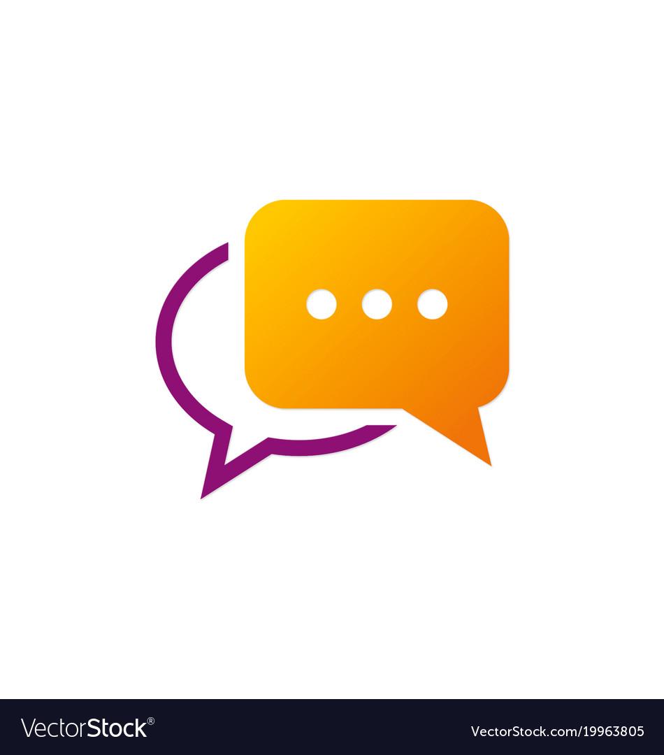 Chat talk communication logo.