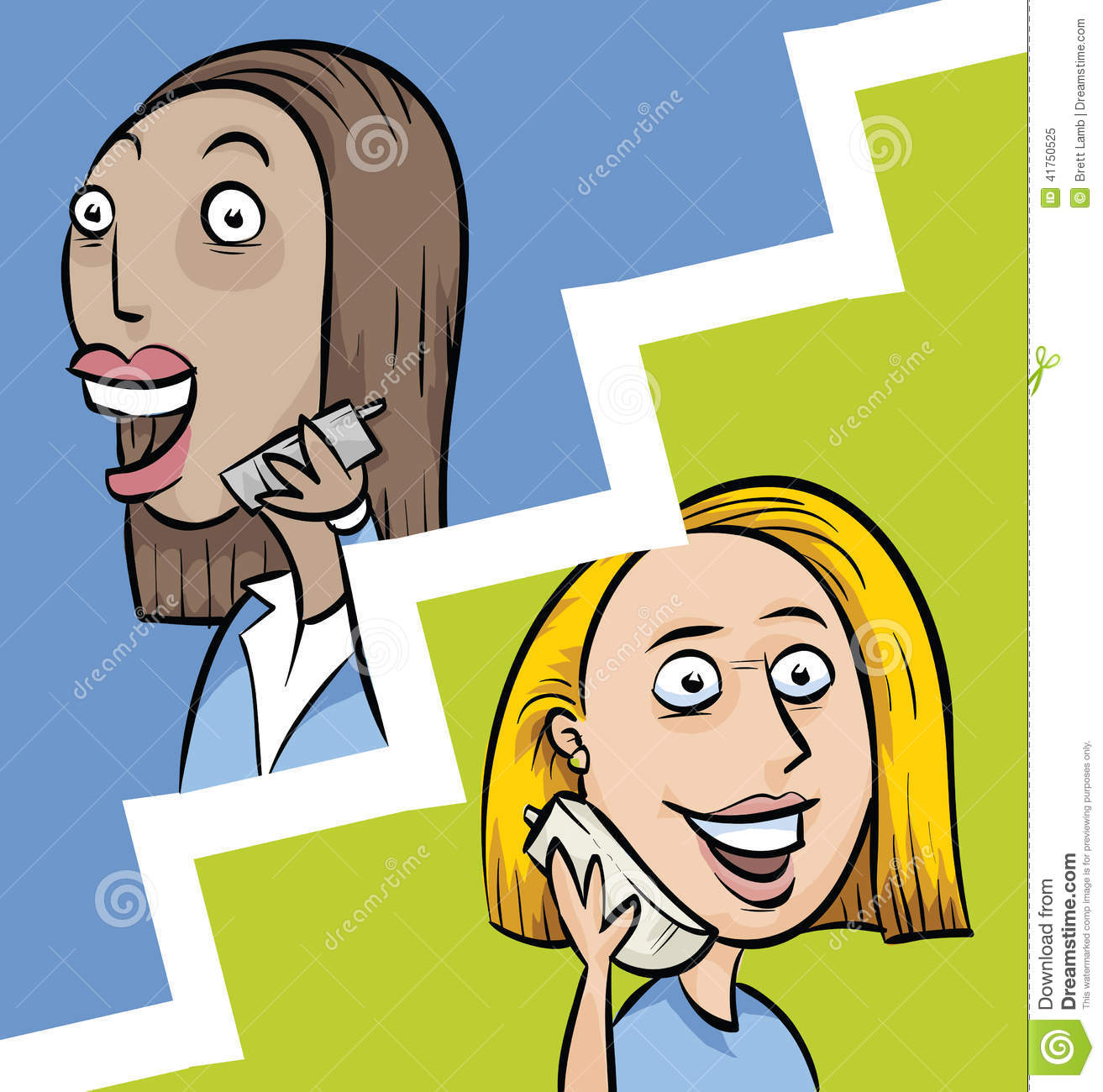 Telephone Conversation Between Two People Clipart.