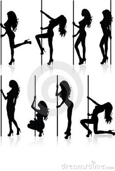 Pole Dancing Silhouette Graphics Silhouette Graphics.
