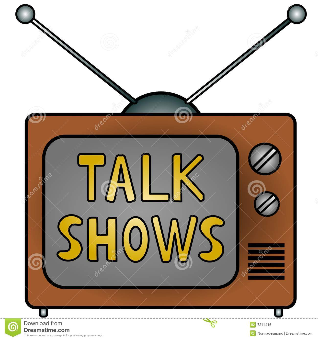 TV Talk Shows Royalty Free Stock Image.