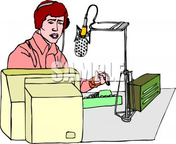 Radio Talk Show Host Taking Calls.