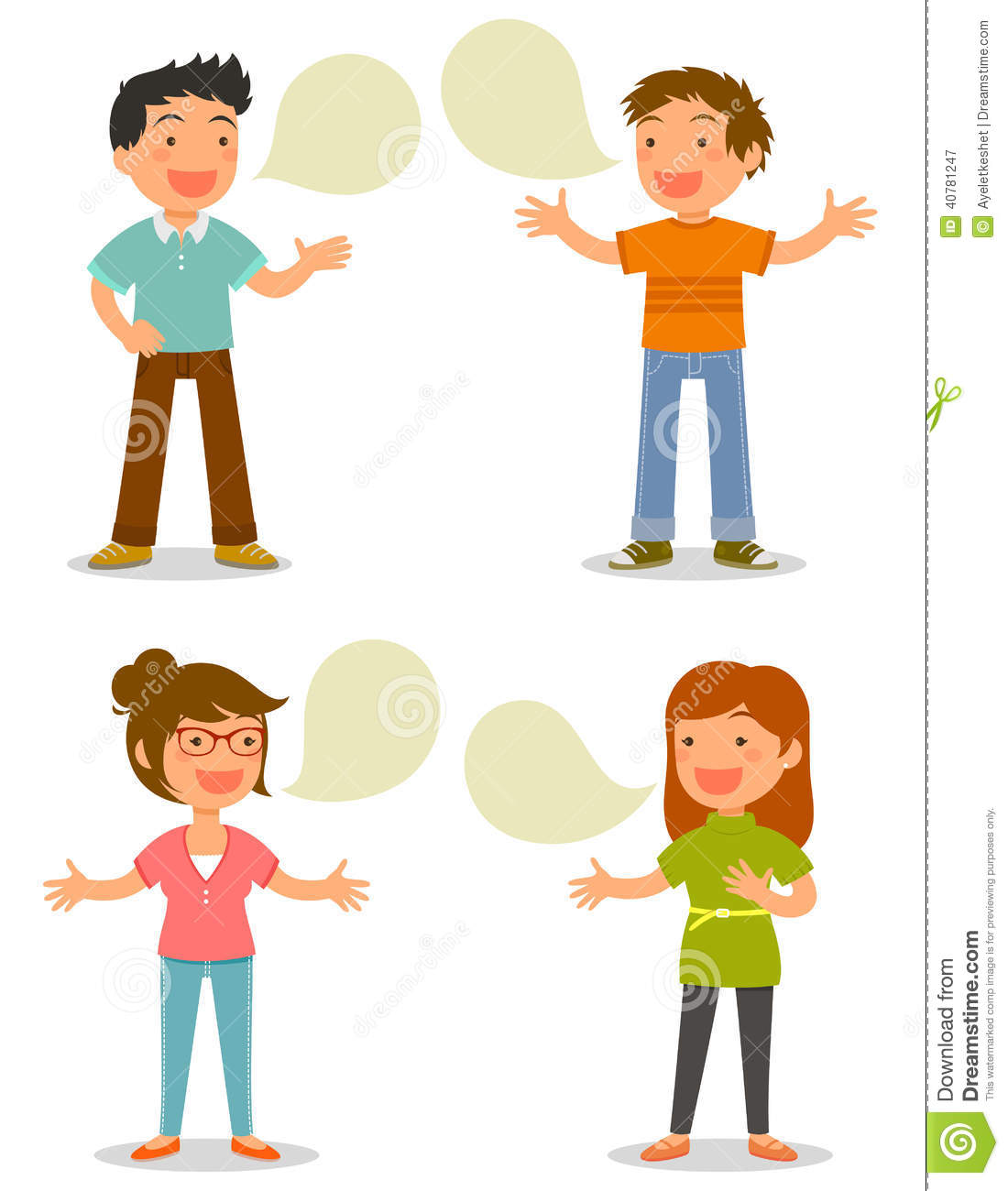 People Talking Stock Vector.