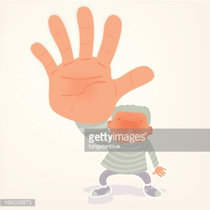 talk to the hand Clipart Image.