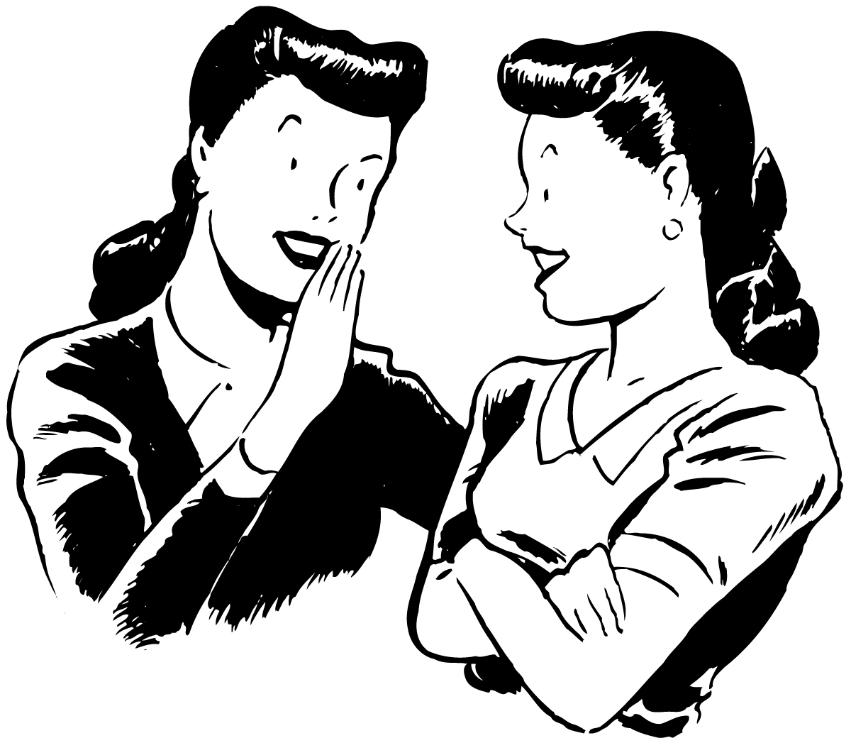Girl Talking To Friends Clipart.