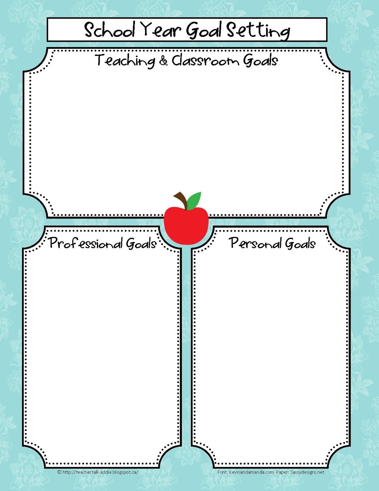 Addie Education Teacher Talk Back To School Teaching Goals #4weAYs.