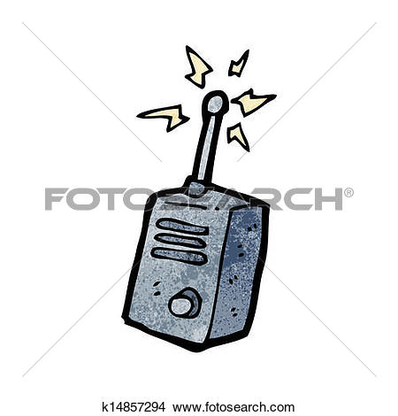 Clipart of cartoon walkie talkie k15528430.