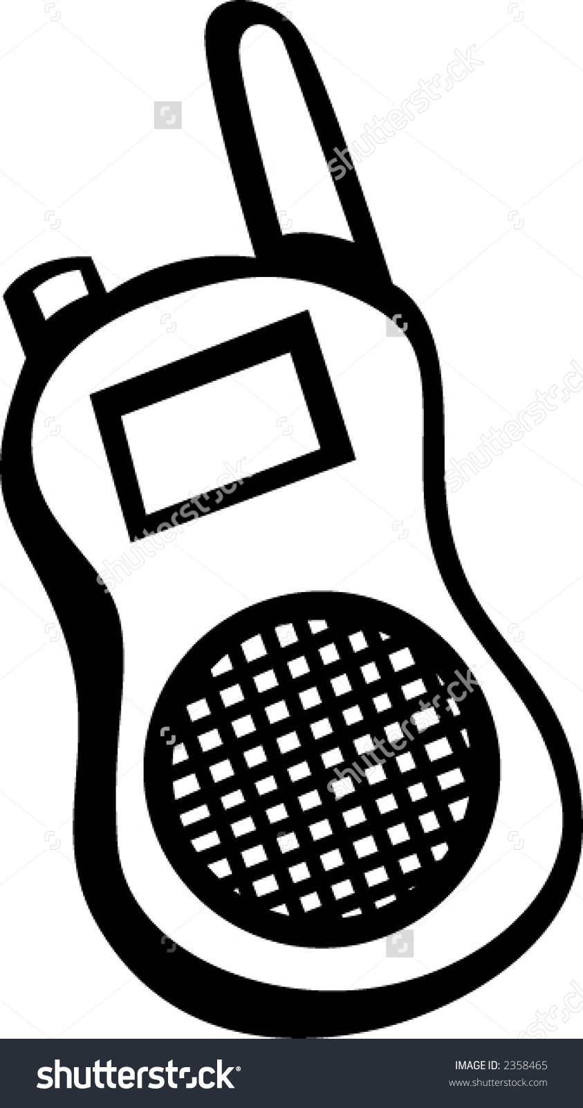 Walkie Talkie Clip Art.