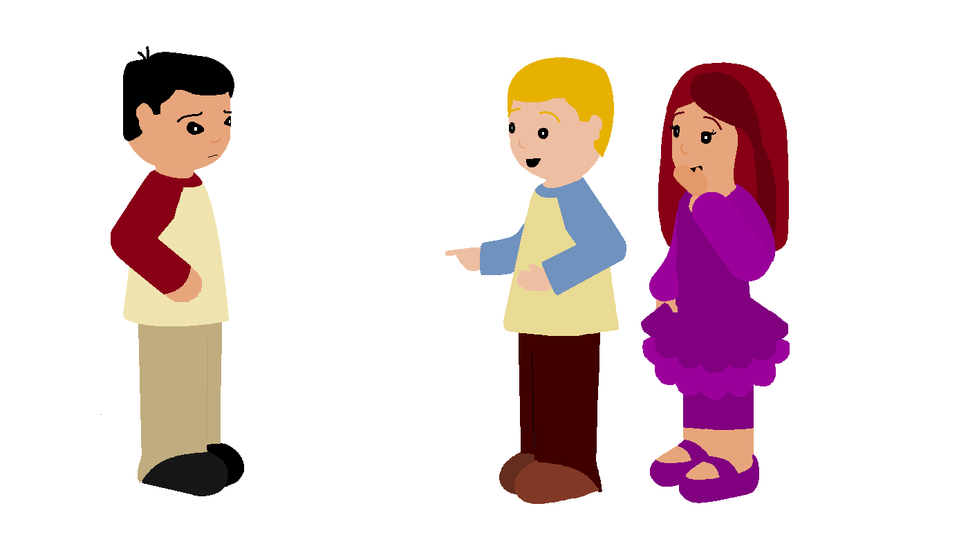 People Talking Behind Your Back Clipart.