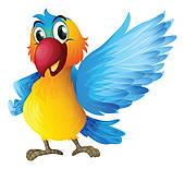 Talking Parrot Clipart.