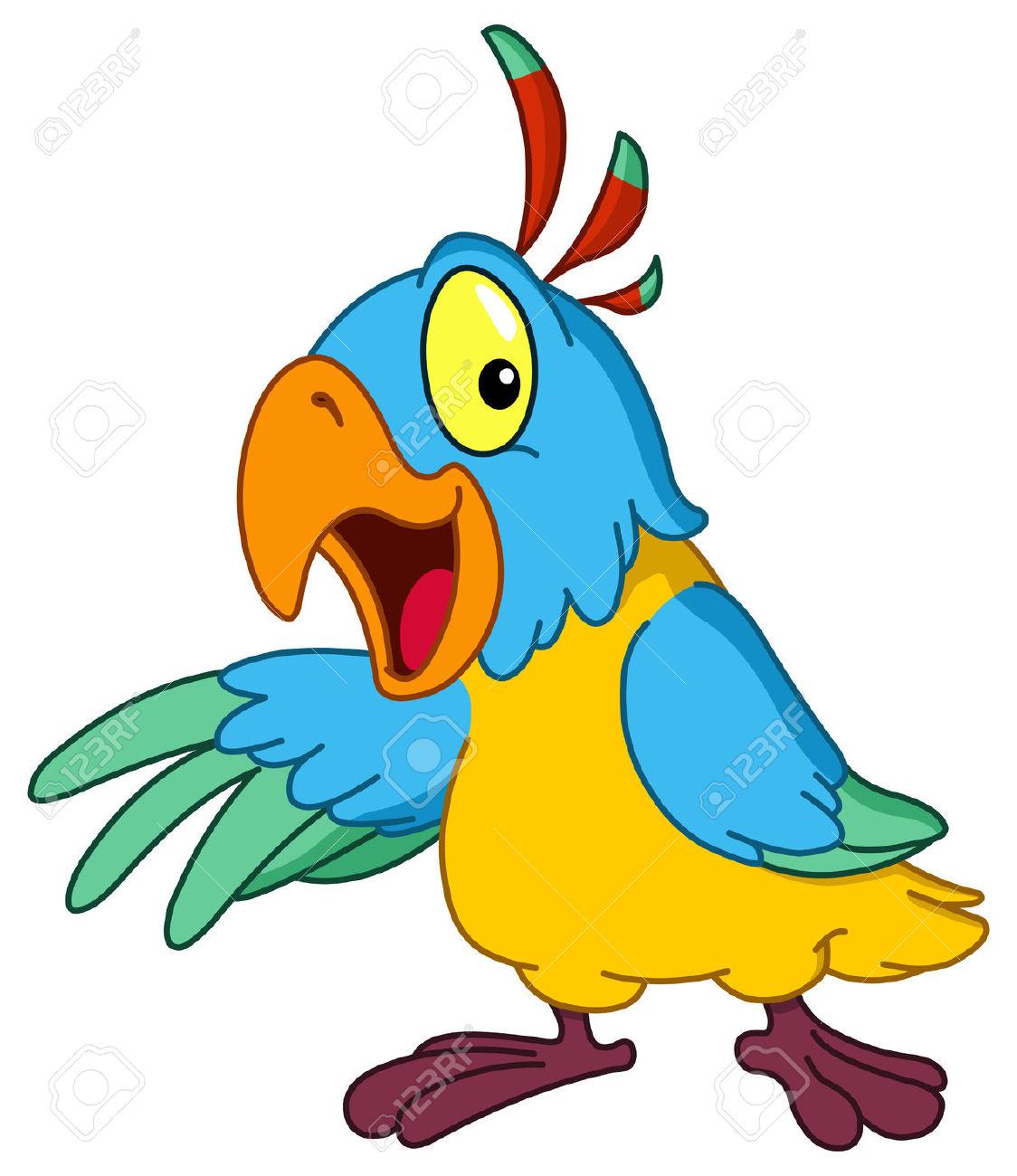 Showing post & media for Cartoon talking parrot.
