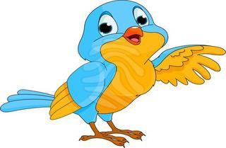 Talking bird clipart.