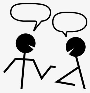 Free Talking Black And White Clip Art with No Background.