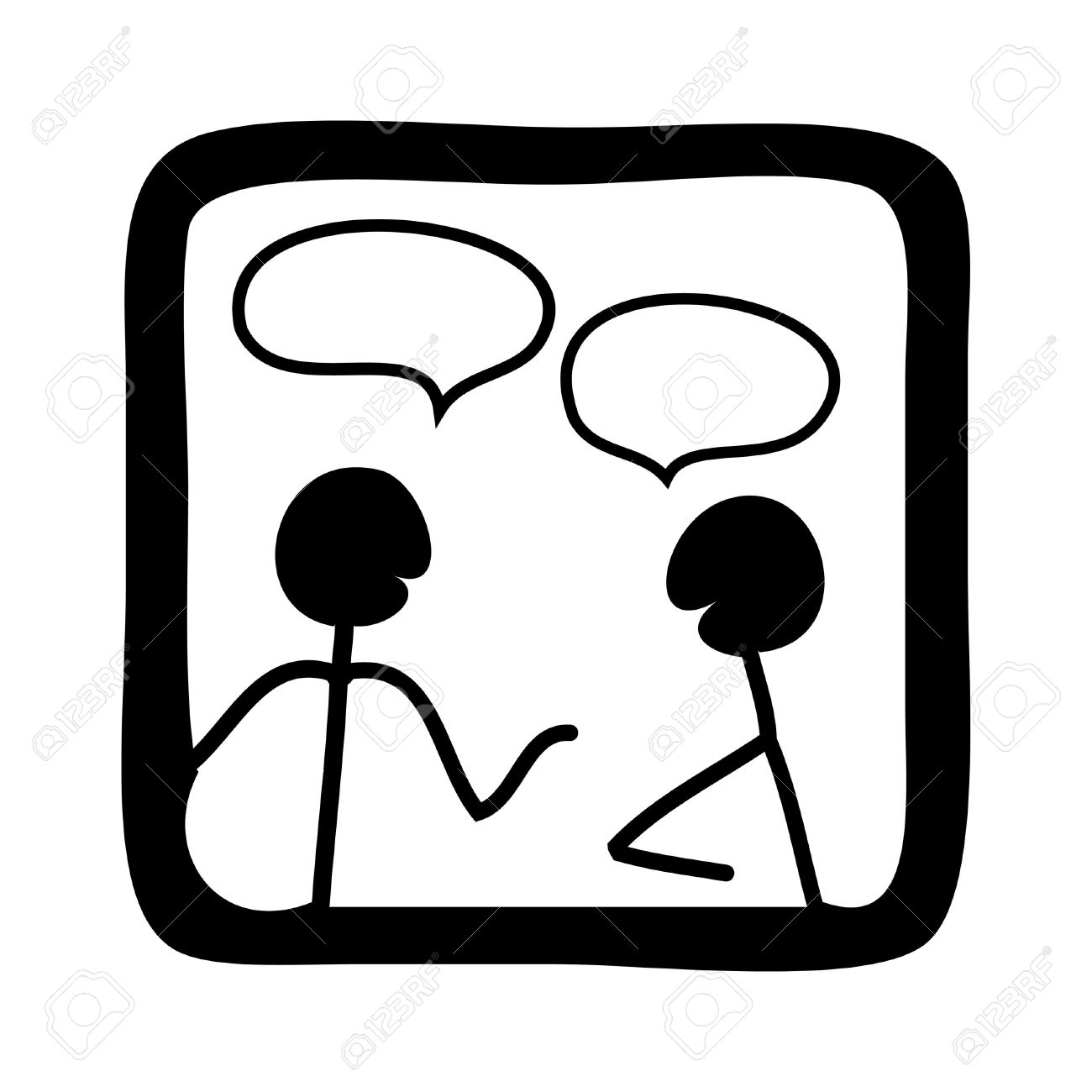 Talking Clipart Stock Photo, Picture And Royalty Free Image. Image.