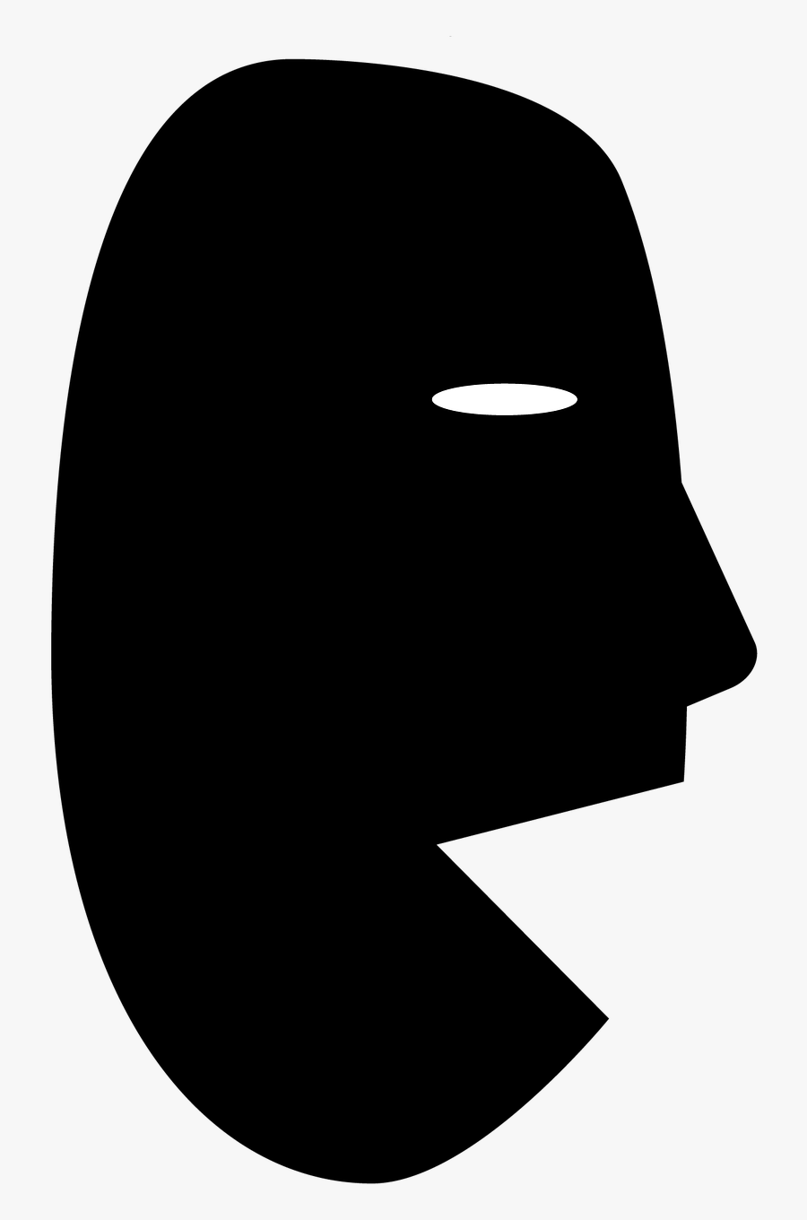 Talking Head Silhouette Free Picture.