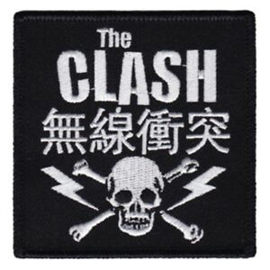 Details about The Clash Skull Bolts Embroidered Patch C014P Talking Heads  Crass Dead Boys Fear.