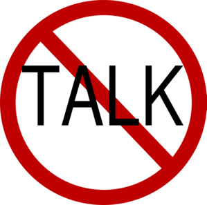 No Talking In Class Clipart.