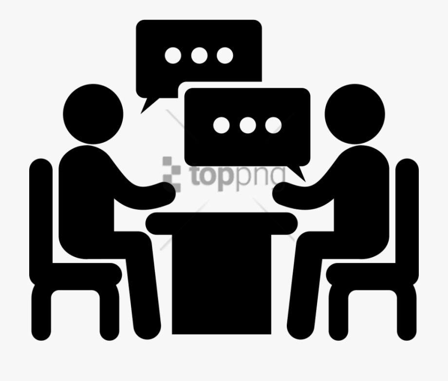 2 People Talking Icon Png Image With Transparent Background.