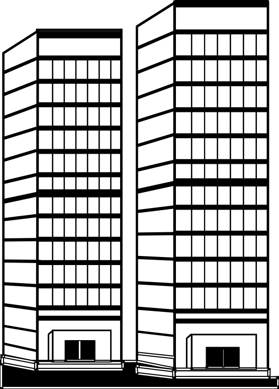 Tall Building Clipart Black And White.