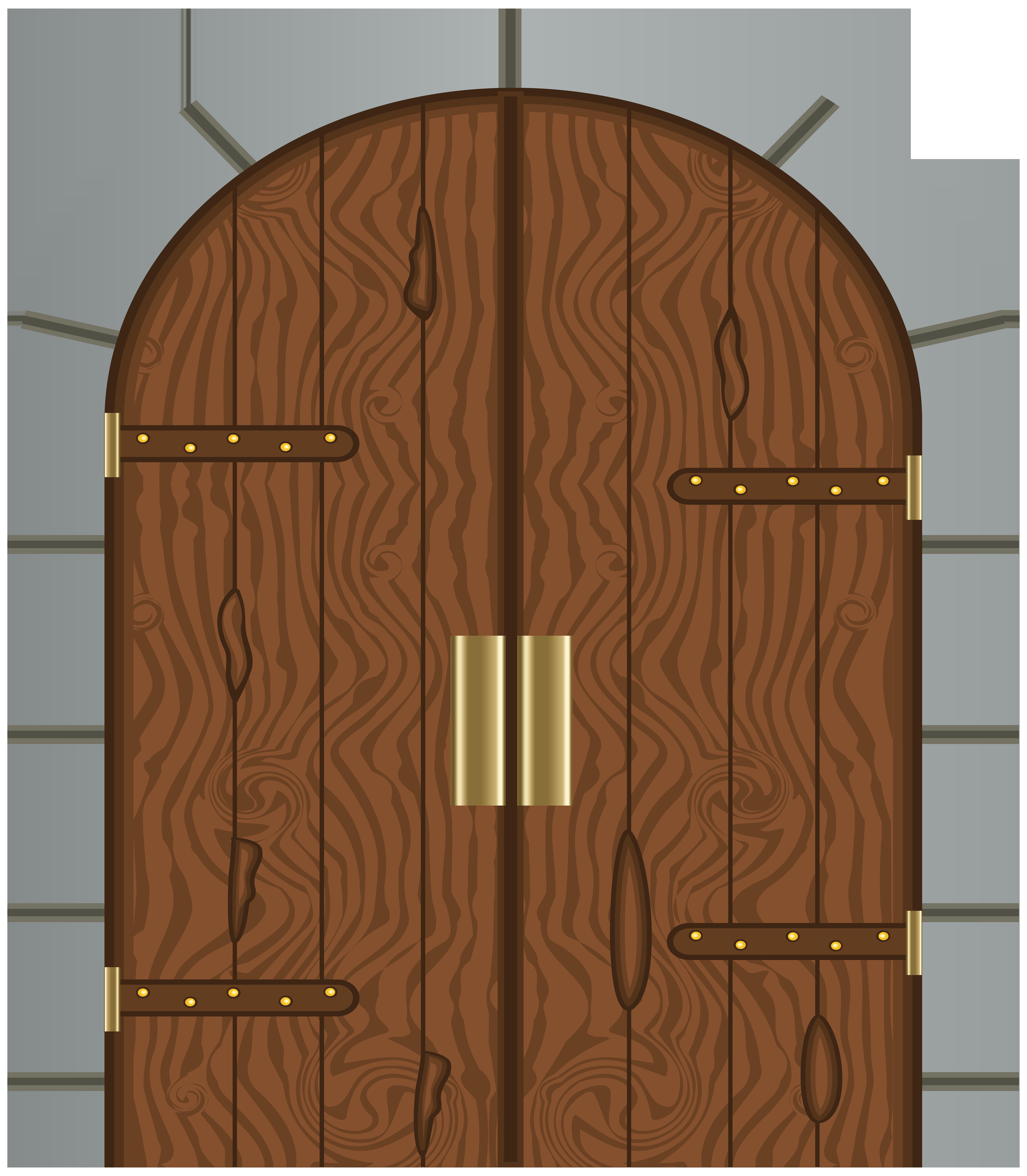 Castle Door Clipart.