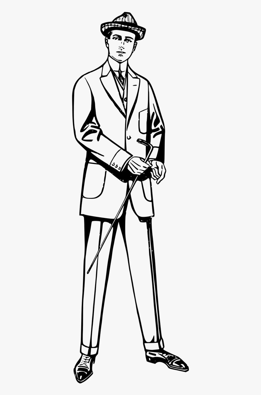Male Clipart Tall Man.